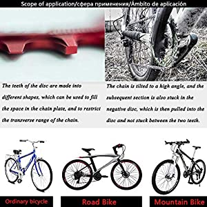 VXM 104BCD Chainring 32T 34T 36T 38T,Narrow Wide Chain Ring for Road Bike,Mountain Bike,BMX Bike,MTB Bike Parts (Color: MO_ 36T_ Red)