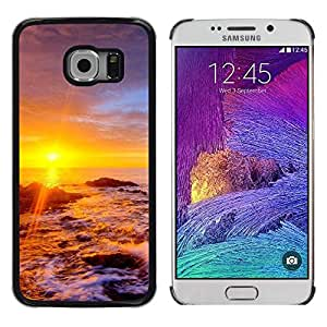 iKiki Tech / Estuche rígido - Sunset Beautiful Nature 34 - Samsung Galaxy S6 EDGE SM-G925