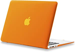 Kuzy MacBook Air 13 inch Case A1466 A1369 Soft Touch Cover for Older Version 2017, 2016, 2015 Hard Shell - Orange