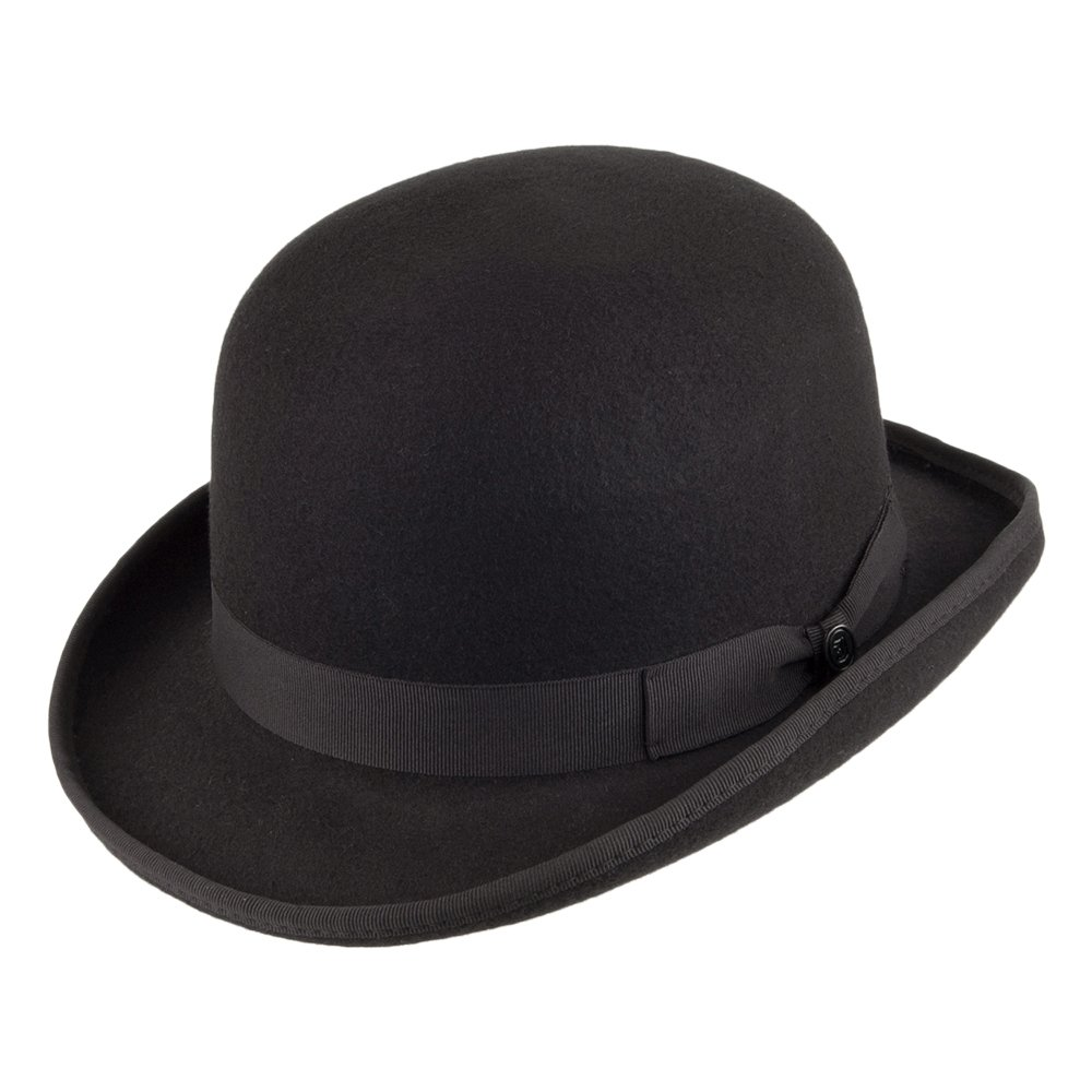 Jaxon /& James Mens Jaxon Hats English Bowler-Black
