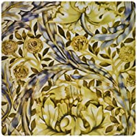3dRose LLC 8 x 8 x 0.25 Inches Mouse Pad, Vintage 1876 Pattern by Morris and Company African Marigold (mp_52266_1)