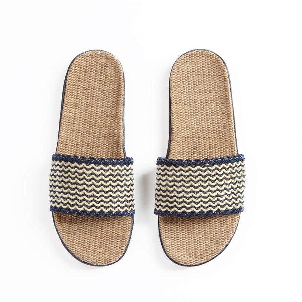 2 JaHGDU Flax in Men's Casual Home Interior Non-Slip Slippers Beach Slipper Soild color Personality Slipper for Men