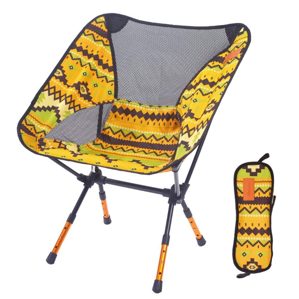 SHUQICCC Tragbarer Klappstuhl im Freien leichte Aluminium Aluminium Aluminium Camping Stuhl höhenverstellbar Strandkorb Picknicks Wandern Last 85kg B07PQLZDHD | ein guter Ruf in der Welt  0de0e5