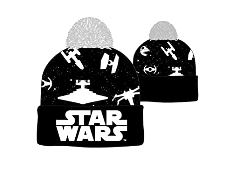 cec8bf892be Image Unavailable. Image not available for. Color  Star Wars Ships Logo Cuff  Beanie Cap ...