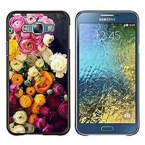 Planetar® ( Rosa Amarillo Ramo de Rosas ) Samsung Galaxy E7 E700 Fundas Cover Cubre Hard Case Cover