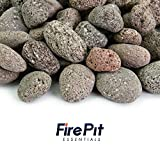 Red 1 Inch - 2 Inch Fire Rock | Fireproof and Heatproof Round Pebbles for Indoor or Outdoor Gas Fire Pits and Fireplaces - Natural, Hand-Picked Stones | 10 Pounds