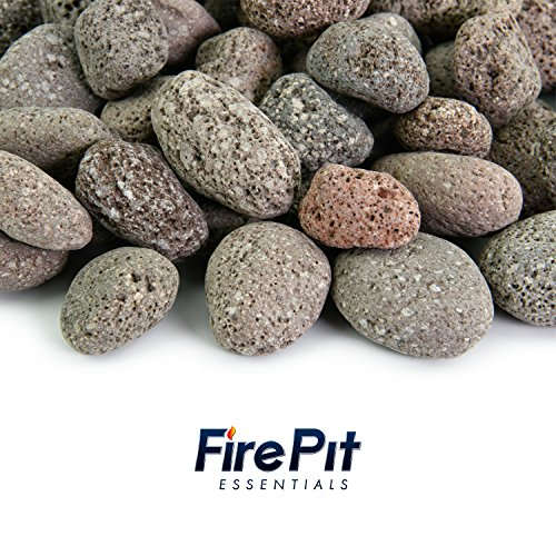 Red 1 Inch - 2 Inch Fire Rock | Fireproof and Heatproof Round Pebbles for Indoor or Outdoor Gas Fire Pits and Fireplaces - Natural, Hand-Picked Stones | 10 Pounds by Fire Pit Essentials