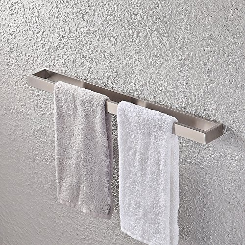 Chrome Purist Tissue Holder (KES Bath Towel Bar 24-Inch Brushed SUS 304 Stainless Steel Hand Towel Rack Bathroom Towel Hanger Contemporary Style Wall Mount, A23000-2)