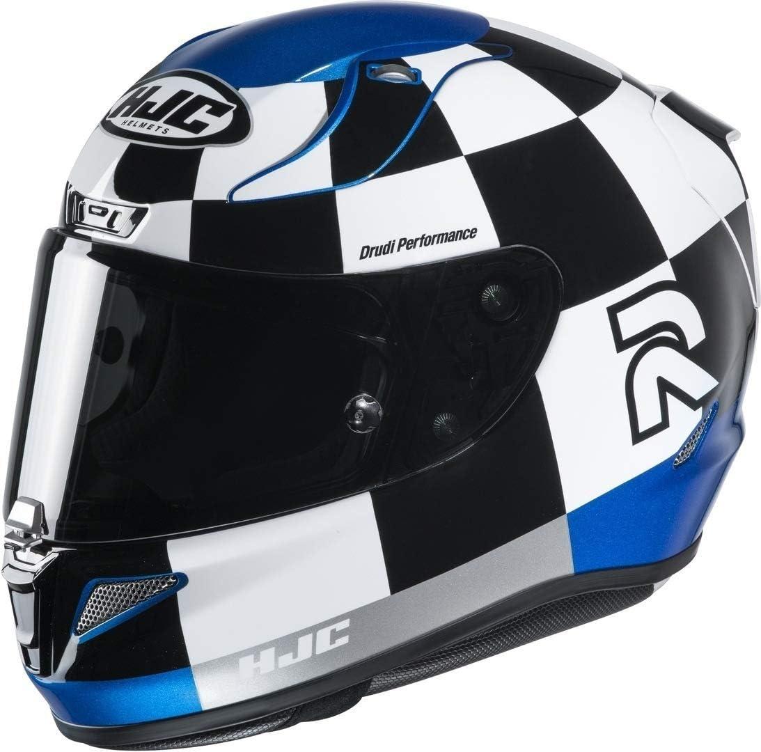 L Casco de moto HJC RPHA 11 MISANO MC2 Negro//Blanco//Azul