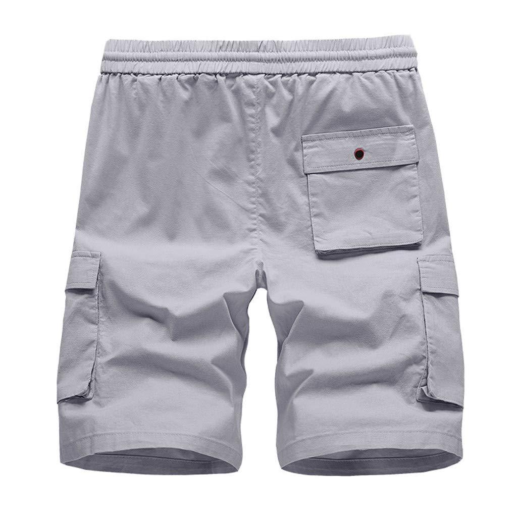 beautyjourney Shorts Chinos para Hombre Bermudas de Verano Pantalones Cortos de Deporte de Secado r/ápido con Cintura el/ástica Pantalones Cortos de nataci/ón para Surfear en la Playa