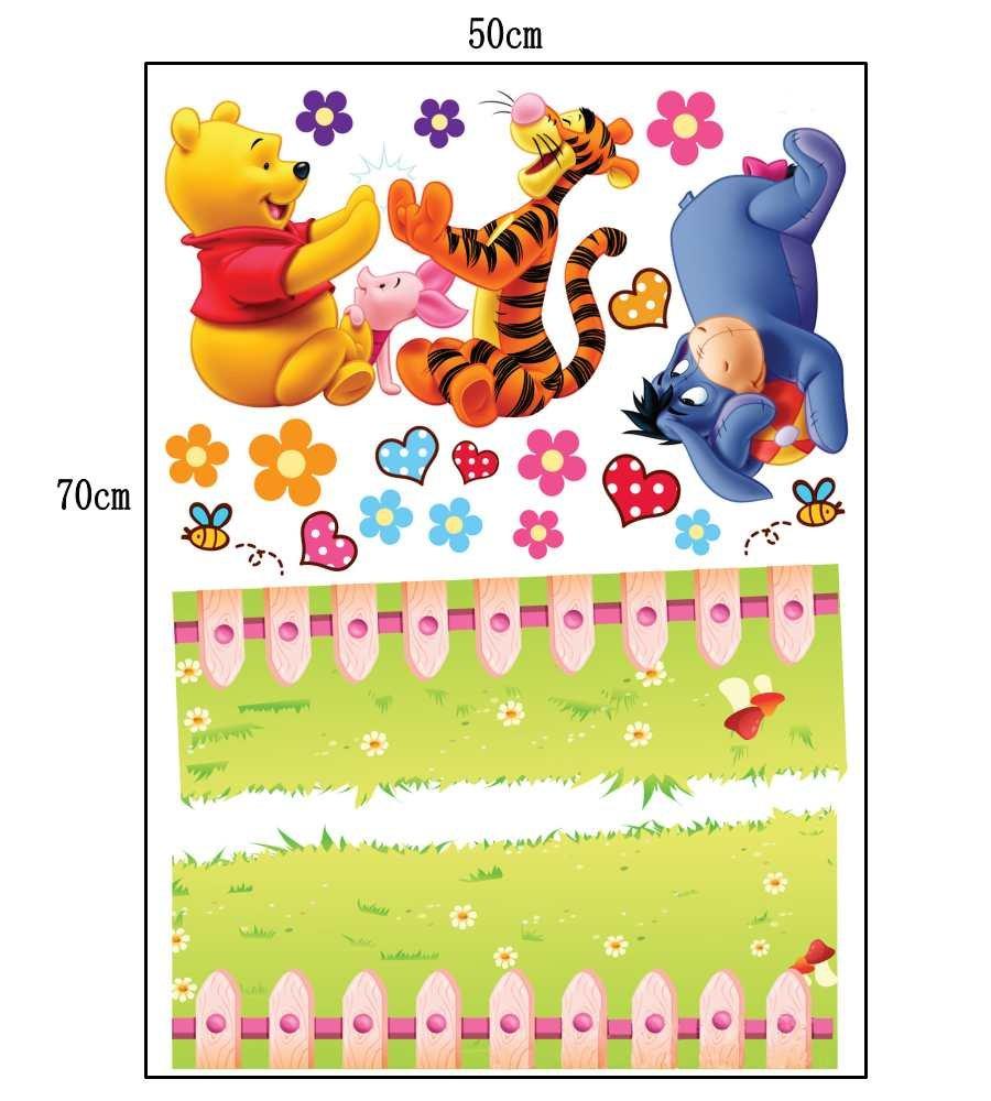 # G ZuoLan 1pcs Winnie lourson sticker mural amovible r/éutilisable pour Enfants//Gar/çons//Filles//D/écoration Maison Chambre