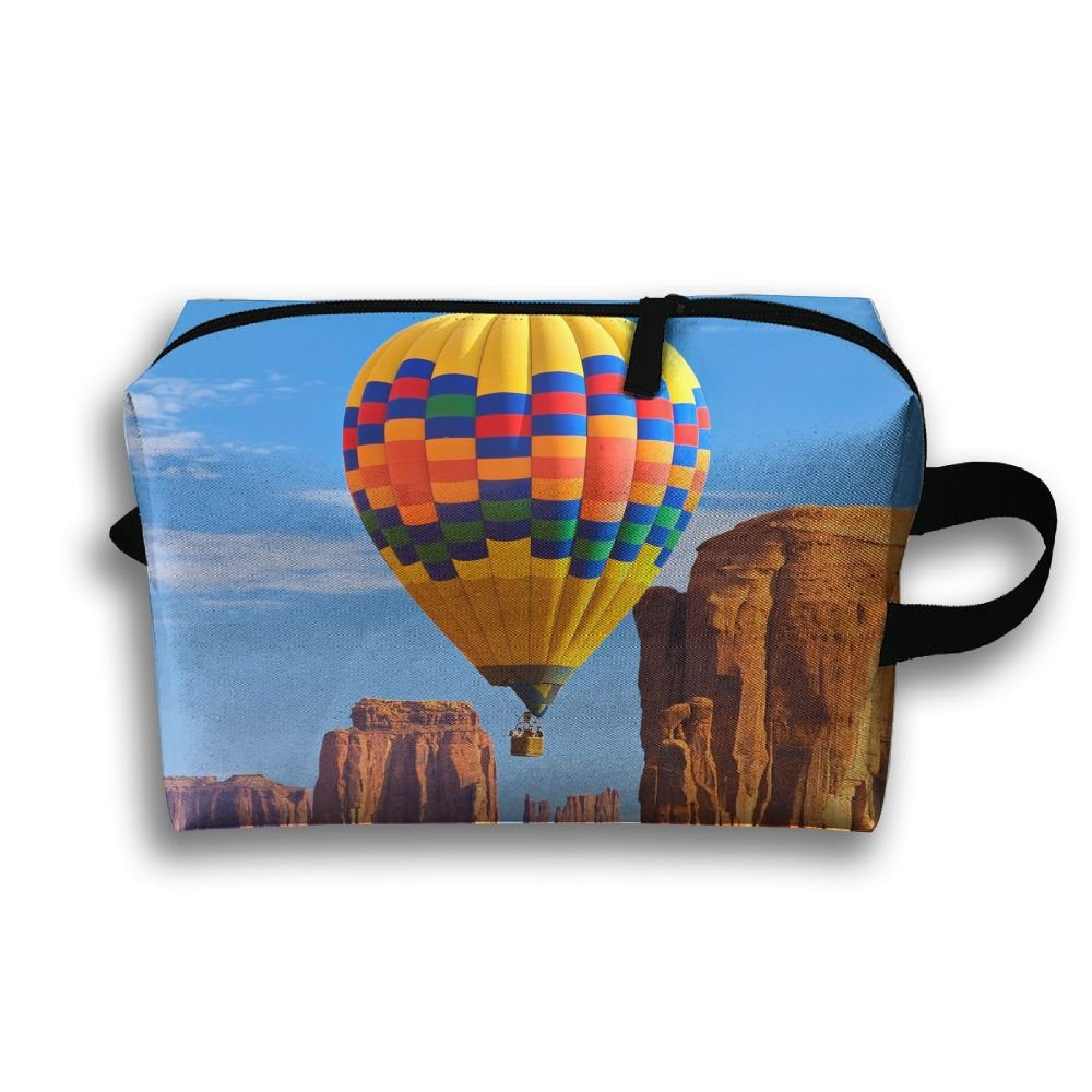 ccd9cd1833 well-wreapped LEIJGS Rainbow Hot Air Balloon Hills Small Travel Toiletry Bag  Super Light Toiletry