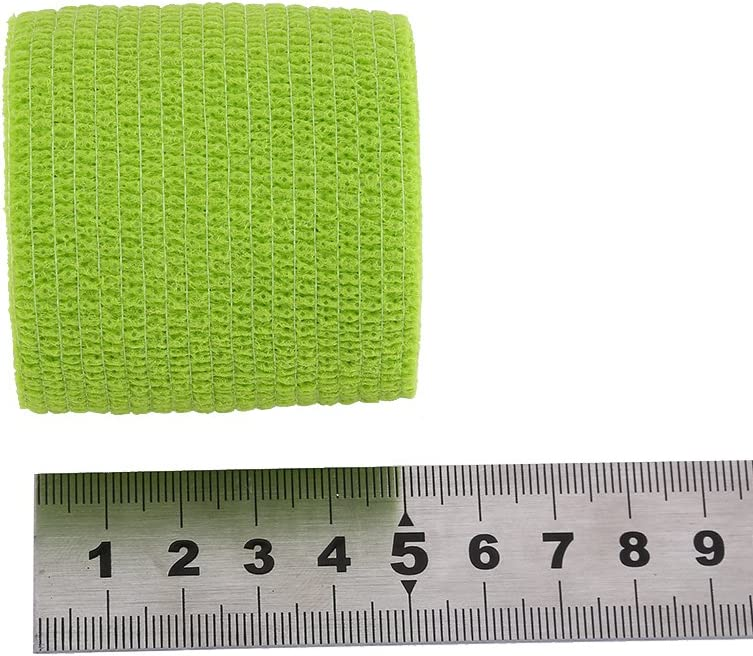 5/rouleaux//Lot auto-adh/ésif Bandage adh/ésif /étanche /à coller b/âton Bandage auto-agrippant Rouleau de bande athl/étique /élastique pour cheville entorses et Gonflements