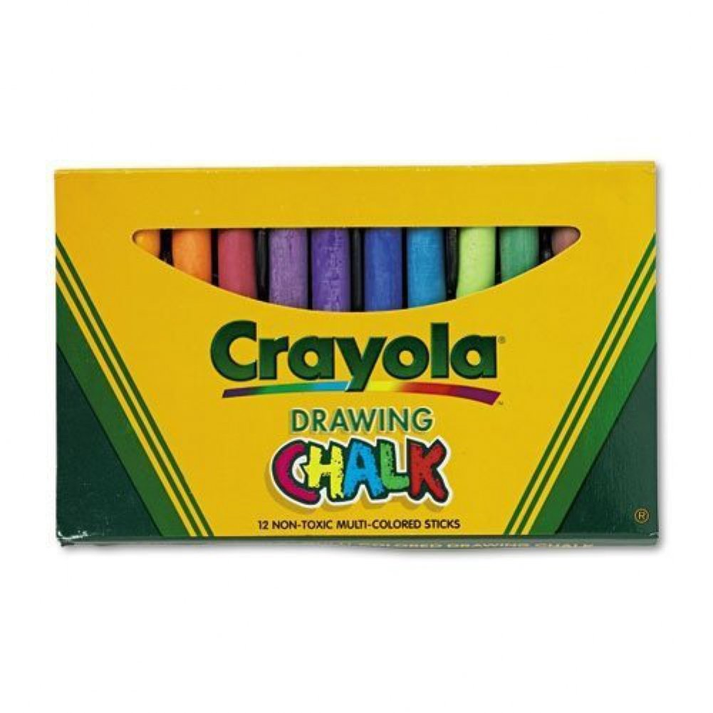 Crayola Colored Drawing Chalk Asst CASE OF 6
