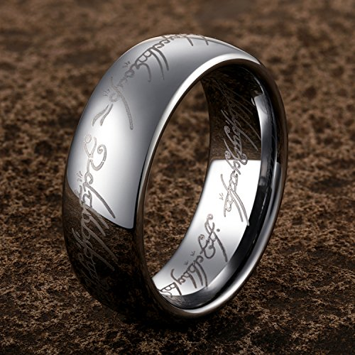 TUSEN JEWELRY Lord of The Rings Silver Color Tungsten Ring Size 7 by TUSEN JEWELRY (Image #4)