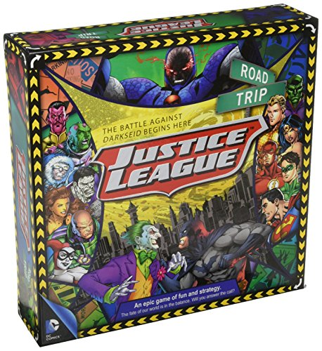Aquarius DC Comics Justice League of America Road Trip Board Game