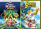 NICKELODEON FUN PACK 2 Movie Bundle: The Spongebob Movie: Sponge Out of Water & Jimmy Neutron Boy Genius animated double feature