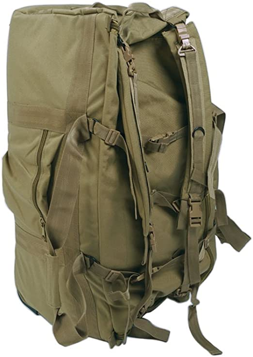 Zaino Borsone da Trasporto Militare da 98 Litri con 8 Tasche VERDE MilTec