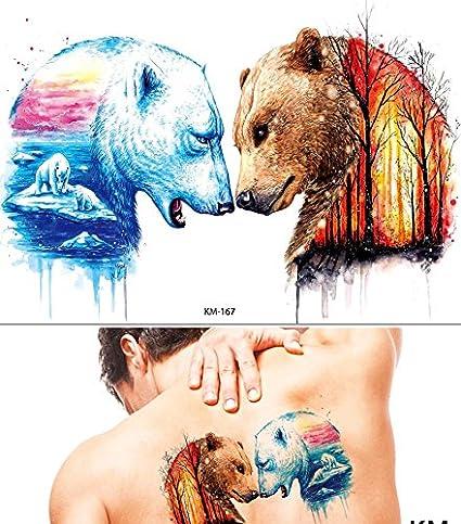 Agua Colores Tattoo oso Colores Fake Tattoo una vez Tattoo para ...
