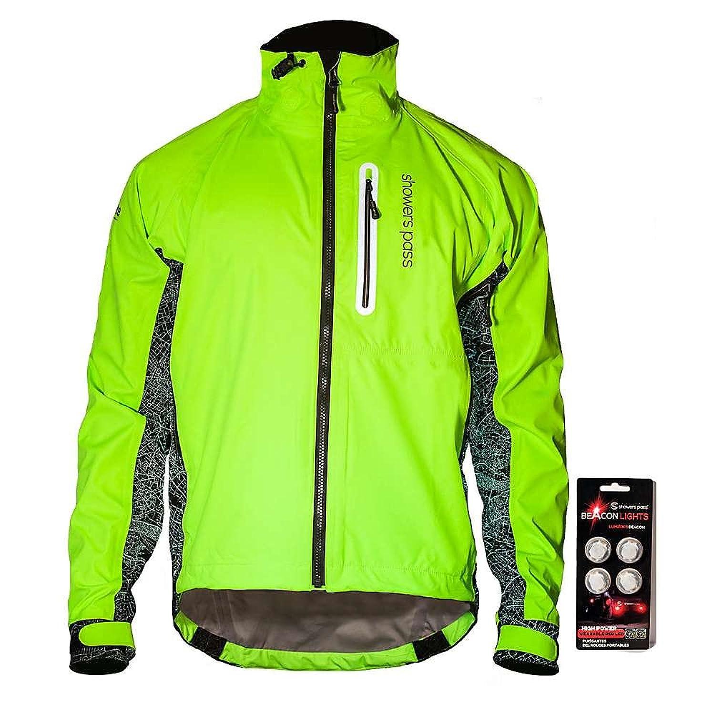 シャワーパス アウター ジャケットブルゾン Showers Pass Men's Hi-Vis Elite Jacket Neon Green 2at [並行輸入品] B073ZJF69J Large