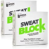 SweatBlock Antiperspirant - Clinical Strength (2 Box Deal - Save 5%), Reduce Sweat up to 7-days per Use
