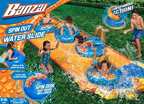 BANZAI Spin Out Slide with Spin Disk Bodyboard