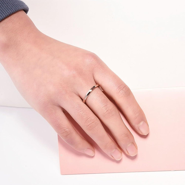 Amazon.com: NaNa Chic Jewelry 2mm Tungsten Carbide Ring Rose Gold ...