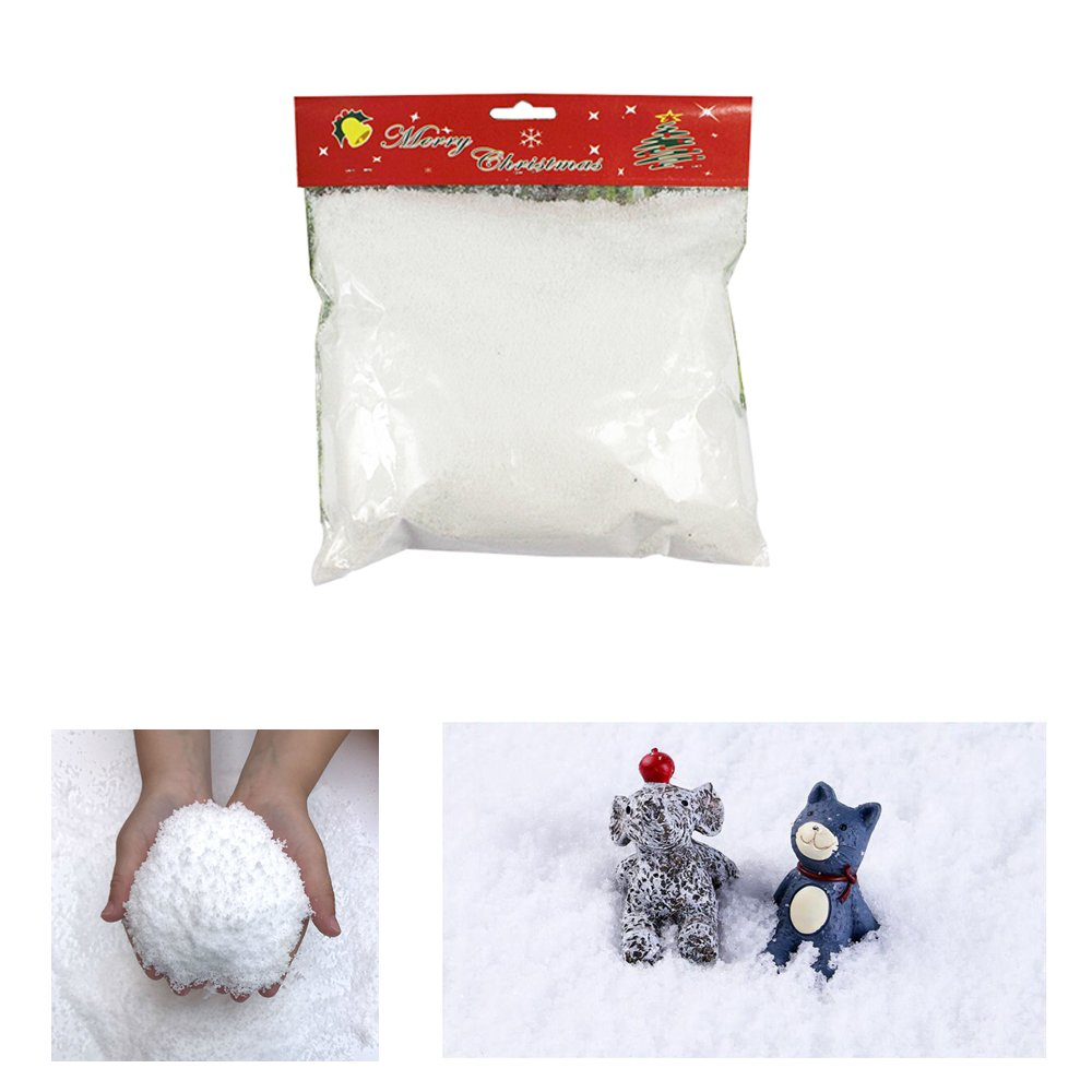 Zinnor Instant Snow Powder, Fake Artificial Snow for Slime - Mix Fluffy White Fake Snow for Slime - Best Gifts for Science Activities, Play Dates, Parties, Games, Decoration, Holiday