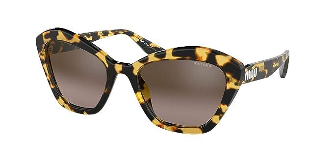 Gafas de Sol Miu Miu SMU 05U Blonde Havana/Brown Shaded ...