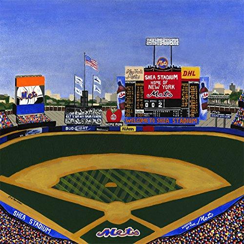 Ceramic Tile Coaster - New York Baseball - New York Baseball Stadiums - Shea Stadium - New York Sports Teams - Sports Team Stadium Series - Ceramic Tile - Ceramic Coaster - Decorative Art Work