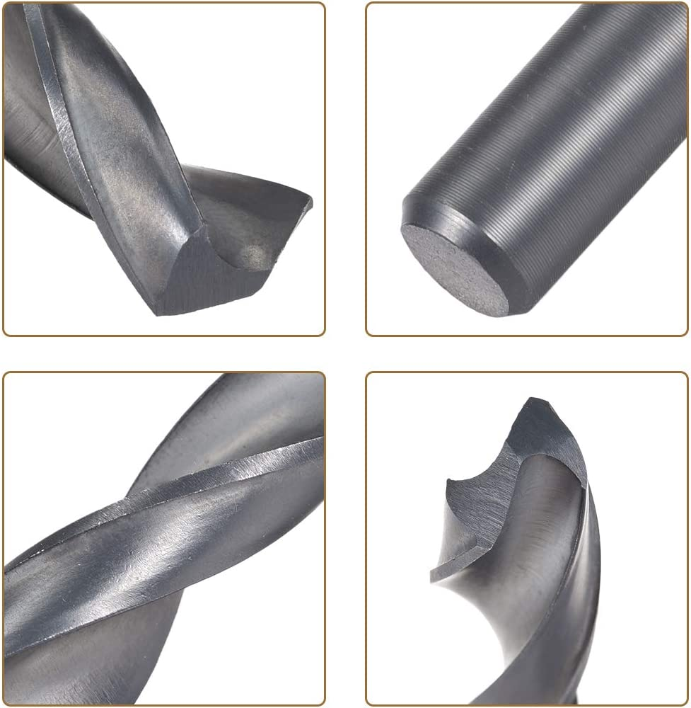 aluminum alloy 10 pieces 6.2mm helical drill bit HSS-4241 high speed steel drill for steel