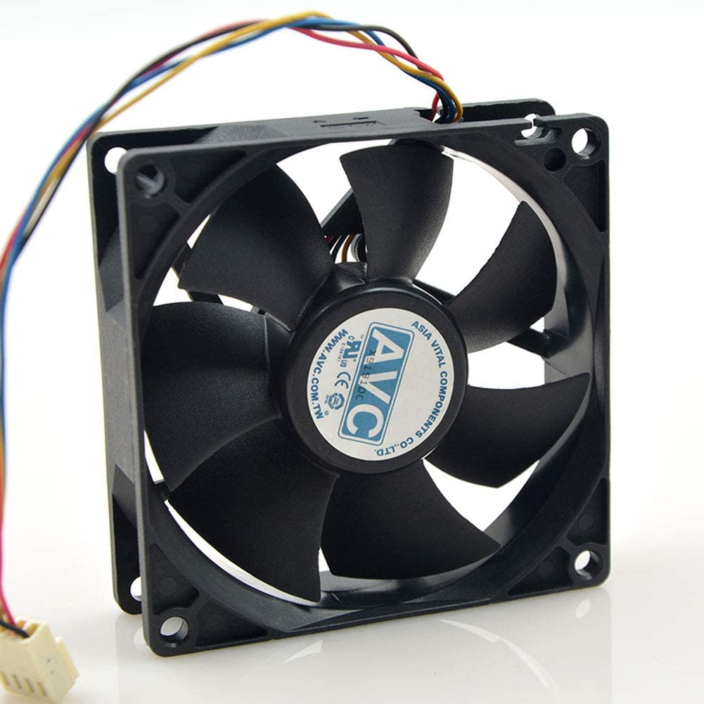 for AVC 80mmx80mmx25mm DL08025R12U Hydraulic Bearing PWM Cooler Cooling Fan 12V 0.50A 4Wire 4Pin Connector