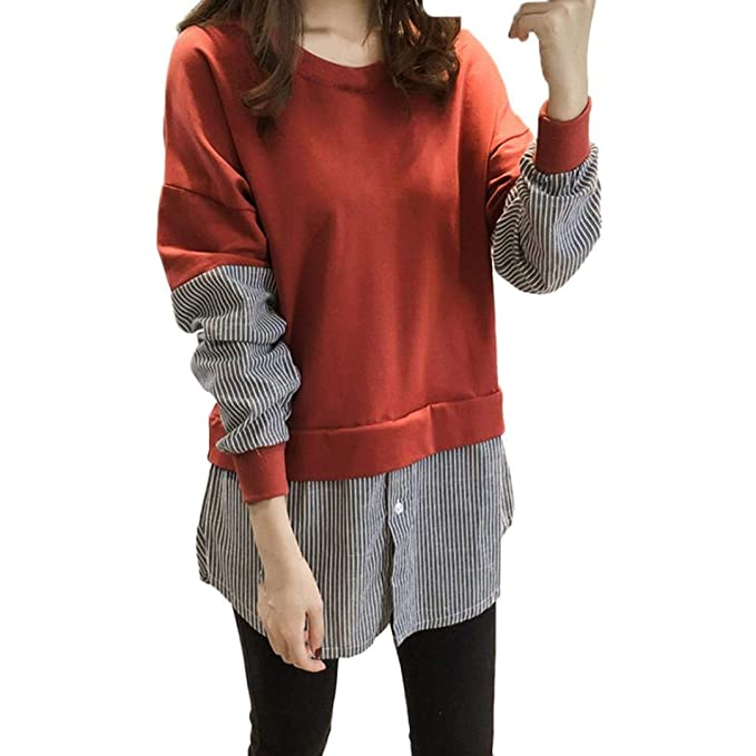 Mujer Sudaderas, ASHOP Blouses Campesinas Sweatshirt 3D Casual Sudadera Mujer Cremallera Largo Top Deporte (