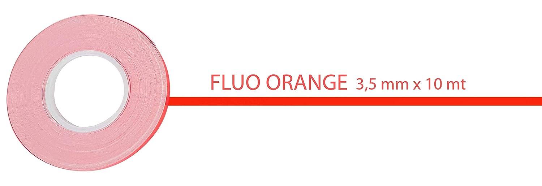 Filet Adhésif Fluorescent, Orange, 3,5 mm x 10 mt