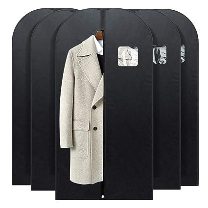 bbd448dd9255 FU GLOBAL Garment Bag Breathable Suit Bag 54 Inches Black Dress Travel Bag  Suit Cover Pack of 5 (5)