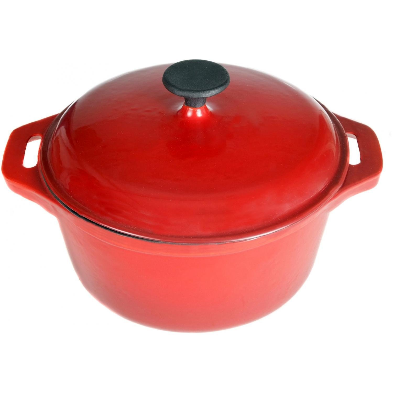 Cajun Cookware 5-quart Enamel Cast Iron Dutch Oven - Red/Black - Gl10487ber