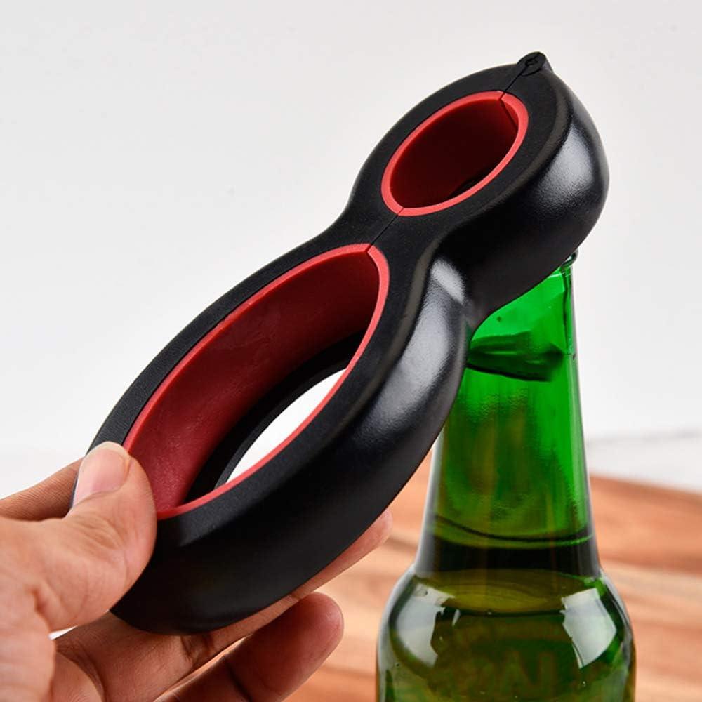 N/ A Sacacorchos Multifunción 6 En 1 Lata Abrebotellas De Cerveza Todo En Uno Jarra De Agarre Lata De Cerveza Tapa Giratoria Jarra Abridor De Vino Garra