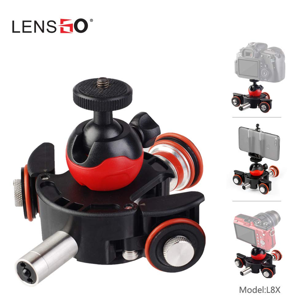 LENSGO Camera Video Track Dolly Motorized Electric Slider Motor Dolly Truck for Nikon Canon DSLR Movie Vlogging Gear Rail System by Lookingsky