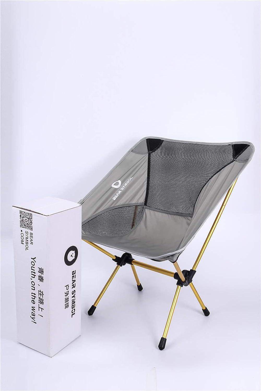 DUBAOBAO Camping Stuhl Outdoor-Falten Anti-Reißende Nylon-Freizeit-Stuhl Outdoor Ultra Light Portable Easy 7075 Aluminium-Legierung Stuhl