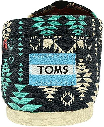 Toms Womens Aztec Low Top Casual Shoes Blue 6.5 Medium (b, M)