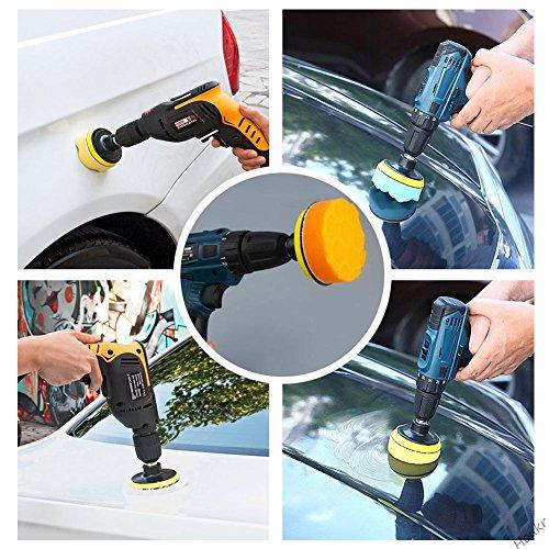 22pcs 3´ Compound Drill Buffing Sponge Pads Kit for Car Sanding Polishing Waxing