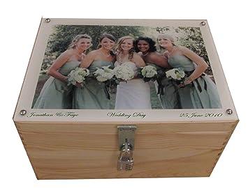 Extra Large Personalised Lockable Wooden Wedding Keepsake or Memory ...