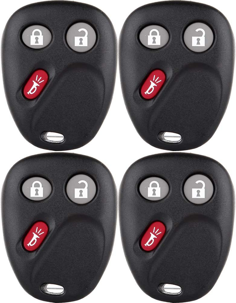 FINDAUTO 4X New Replacement Keyless Entry Smart Remote Control Key Fob Shell case fit for 03-07 Buick Rainier 01-05 Buick LeSabre 03-07 Cadillac DeVille with FCC KOBGT04A-B