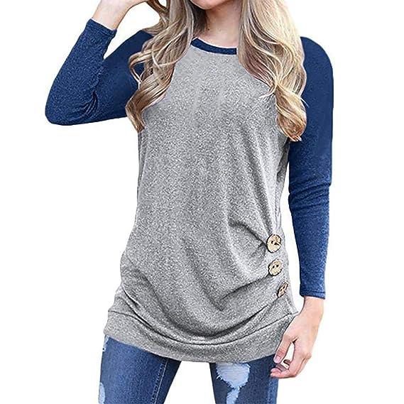 Blusas Mujer,BBestseller Pullover Otoño e Invierno Camiseta Mujeres más el tamaño de Manga Larga