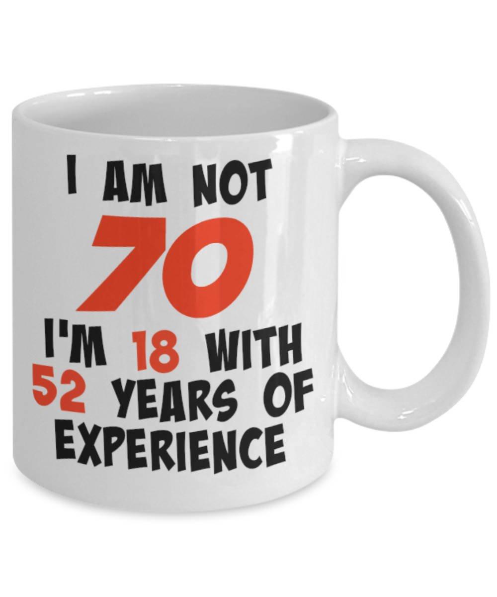 Amazon 70th Mug Birthday 70 Years Old Gift Novelty 1948 Idea Funny Tea Coffee Kitchen