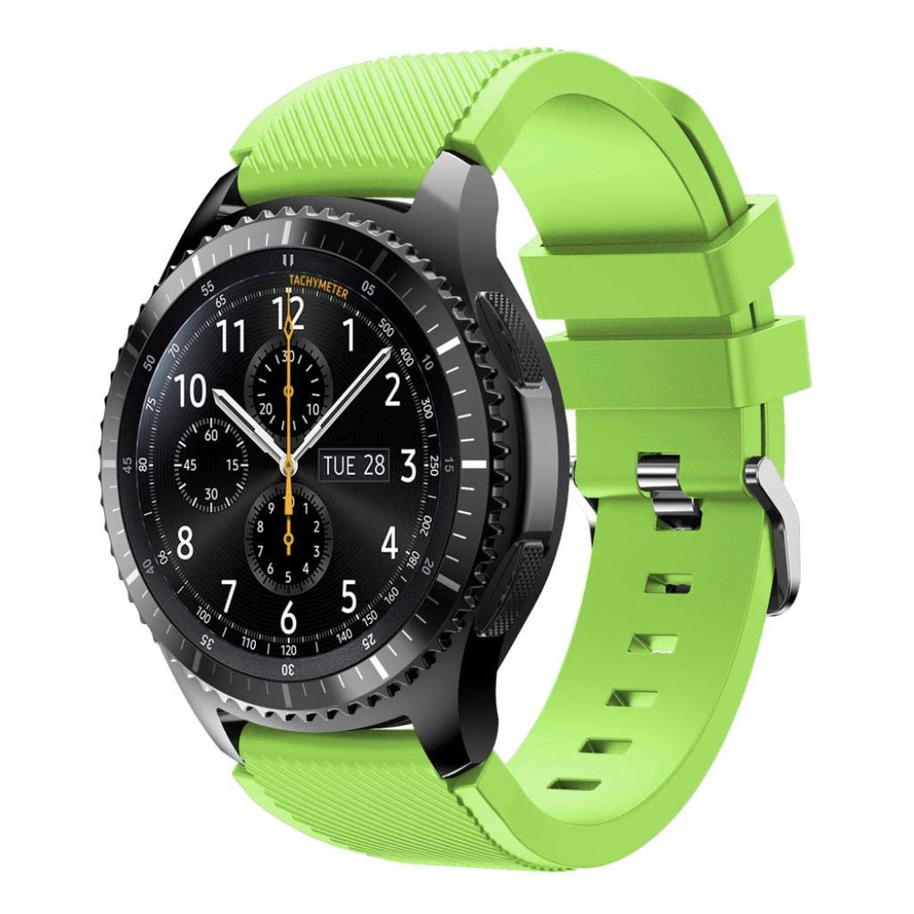 For Samsung Gear S3 Frontier New Fashion Sports Silicone Bracelet Strap Band,Outsta Watch Band Wrist Strap Watch Accessories Bracelet Best Gift 22mm (Green)