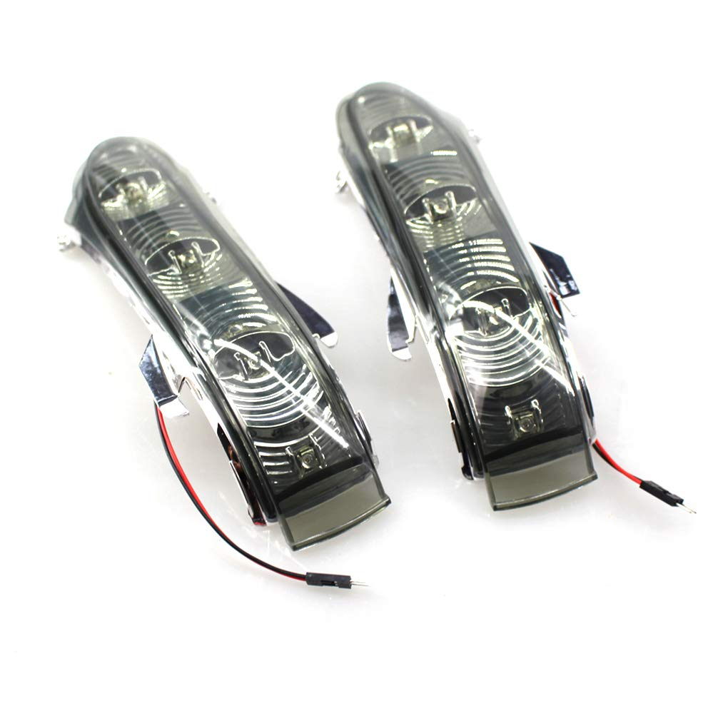 OmkuwlQ 1 Pair for 92-03 Mercedes CL S W220 S320 S430 S500 W215 LED Door Side Rear Mirror Turn Signal Light Lamps