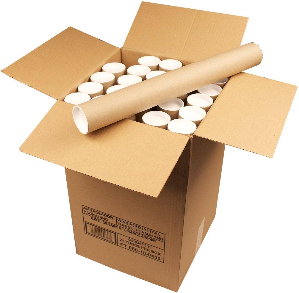 Ambassador Mailing Tubes Cardboard A1 L625xDia.50mm Ref PT-050-20-0625 [Pack 25] No-Name PT-050-02-062A