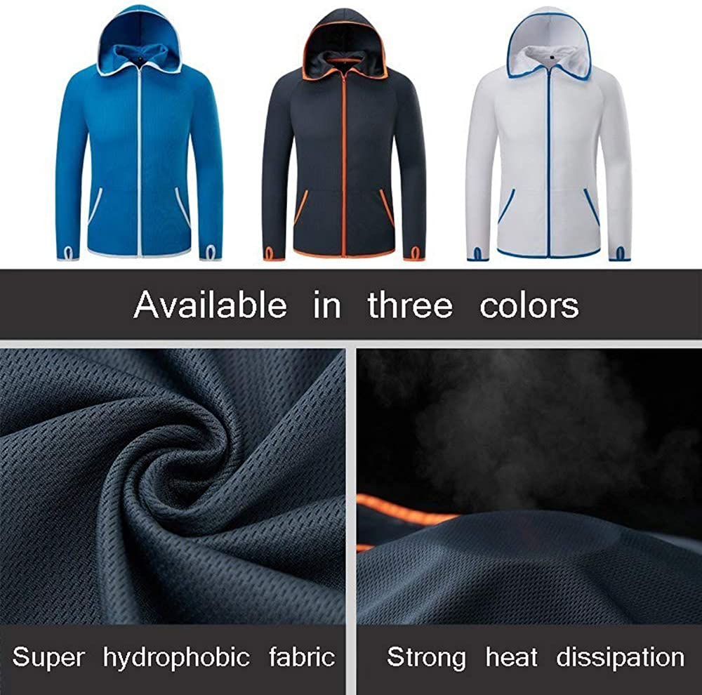 OGOUGUAN Men Waterproof Jacket Lightweight Hoodie Jacket Outdoor Casual Sportswear