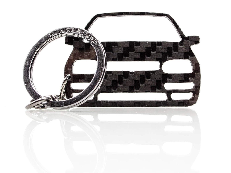 BlackStuff Llavero De Fibra de Carbono Cadena De Claves Compatible con Golf GTI Mk3 1991-1997 BS-850